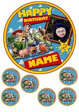 "TOY STORY PERSONALISED CAKE TOPPER ADD PHOTO/MESSAGE 7.5""ROUND&TOPPERS ICING"