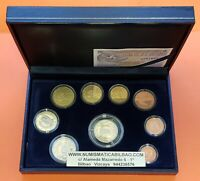 2007 ESPAÑA ESTUCHE PROOF FNMT 9 MONEDAS Cartera Euros Set Spain KMS Coffret