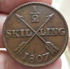 NORVEGE NORWAY 1/2 SKILLING 1807