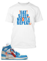 Tee Shirt to match Off-White Air Jordan 1 Eat Sleep Repeat Tshirt  Big and Tall