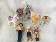 Horse Pony Rider Boy Girl Doll Fisher Price Loving Family Stable Western LOT