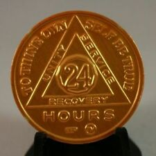 Recovery coins AA Aluminum Medallion token sobriety affirmation birthday 24 hour