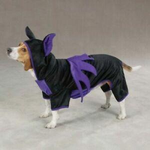 CASUAL CANINE BAT DOG Halloween Costume Dog Puppy Pet Black Purple Party XS  L
