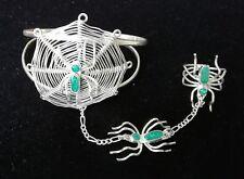 Bracelet - 050B1 Silver Plated Spider Slave