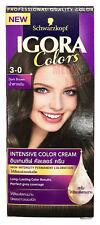 Schwarzkopf Igora Hair Dye Intensive Color Cream Professional Dark Brown 3-0