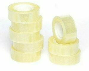 8 mini Sellotape Refill Clear Sticky Packaging Easy Tear Tape Kid Craft cellotap