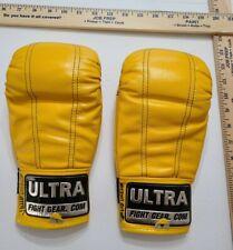 Ultra Fight Gear Yellow MMA Gloves Medium Unisex