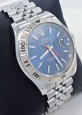 Rolex Datejust 116264 Turn-O-Graph Blue Dial 18K White Gold Bezel *Mint*
