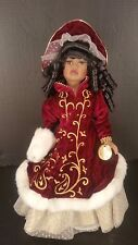 Collectors Choice Genuine Fine Bisque Porcelain Doll Black African American 16""