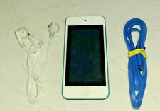 Apple iPod Touch 5th Gen Blue 32GB A1421 W/ USB Lighting charger Earbuds Bundle