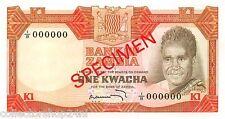 Zambia 1 Kwacha 1973 Unc Specimen pn 16s