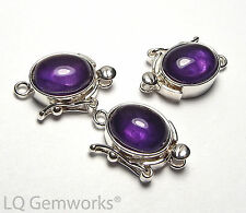 AMETHYST 925 Sterling Silver 8x10mm Box Clasp