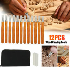 12 Set Wood Carving Tools SK2 Carbon Steel Sculpting Knife Kit for Professions