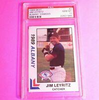 1989 BEST Albany Yankees JIM LEYRITZ #2 Rookie PSA 10 GEM MINT POP 2!