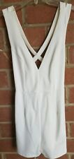 Wet Seal Women's White Strappy Open Back Romper Size Small
