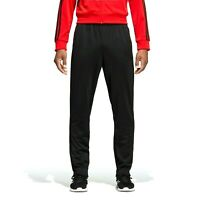 [DU0467] Mens Adidas Essential 3 Stripe Tricot Training Pants - Black Black