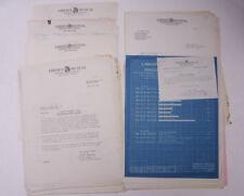 1927 Lamson Goodnow Liberty Mutual Accident Chart BluePrint Paper Ephemera P288D