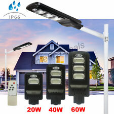 40/80/120 LED Solar Powered Street Lights Outdoor Remote Control Security Light