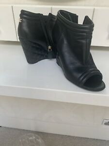 Chanel Boots 37 Authentic Open Toe