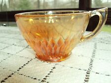 Jeannette Anniversary Iridescent Marigold Carnival Cup Good Condition