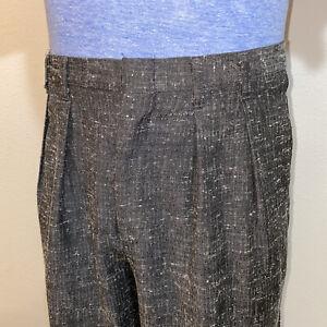 Vtg Cotler Pants Miami Vice High Waist Retro Pleated Gray 80s 90s MENS 30 27