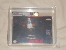 NEW Mary Shelley's Frankenstein Super Nintendo Game VGA 80 NM SILVER SNES Sealed