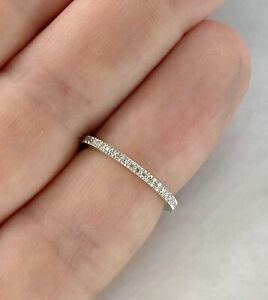 Tiffany and Co.  Platinum And Diamond Eternity Band