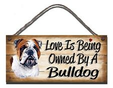 WOODEN PLAQUE  DOG  BULLDOG PET LOVER   GIFT PRESENT