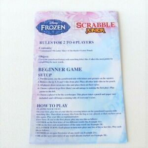 Disney Frozen Scrabble Jr. Board Game Replacement Instructions Rules