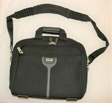 APC brand computer bag case / soft nylon shell briefcase w/ shoulder strap