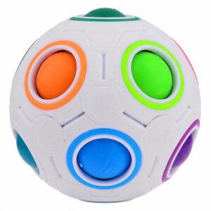 Rainbow Magic Ball Plastic Cube Twist Puzzle Children's Educational Toy fas T'JI
