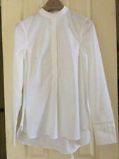 NEW Brunello Cucinelli Mandarin Collar White Shirt Sz XS