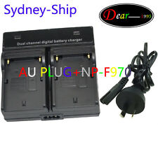 &Dual Double AC Charger Sony NP-F570 F730 F730H F950/B F960 F970 Battery AU-ship