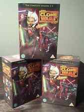 "STAR WARS THE CLONE WARS COMPLETE SEASON 1-5 DVD BOX SET 22 DISC R4 ""NEW&SEALED"""