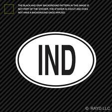 IND India Country Code Oval Sticker Decal Self Adhesive Indian euro