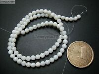 Natural White Mother Of Pearl MOP Shell Round Beads 15.5'' 2mm 3mm 4mm 6mm 8mm