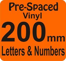 200mm Pre Spaced Vinyl Adhesive Letters Number DIY Sign