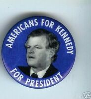 1980 TED KENNEDY PIN Americans for Kennedy