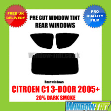 CITROEN C1 3-DOOR 2005+ 20% DARK REAR PRE CUT WINDOW TINT