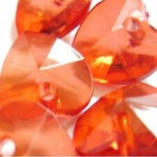 30 Piezas De 10mm Acrílico corazón encanto granos-Rojo-a5104