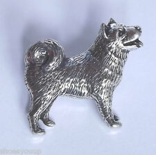 Husky Dog Hand Made in Uk Pewter Lapel Pin Badge