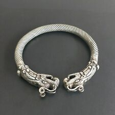 dragon head twisted bracelet 1piece Grand Chinese handmade Miao silver