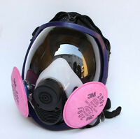 Painting Spraying 3M 6800 Gas Mask Full Face Facepiece Respirator & 2091 Filter