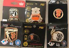 SET OF 6 SAN FRANCISCO GIANTS LOGO PINS BLOWOUT PRICE
