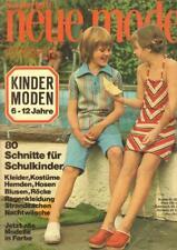 Neue Mode Sonderheft Kinder Moden 6-12 Jahre Mit Günther Moden