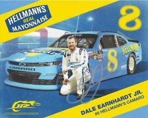AUTOGRAPHED 2019 Dale Jr. #8 DARLINGTON THROWBACK Signed NASCAR 8X10 Hero Card