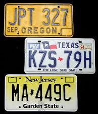"""3 Nummernschilder USA aus """"Oregon,Texas,New Jersey"""" kleines Konvolut. 13544."""