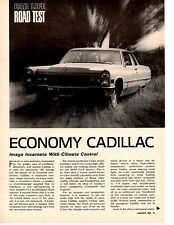 1966 CADILLAC CALAIS COUPE 429/340 HP ~ ORIGINAL 4-PAGE ROAD TEST / ARTICLE / AD