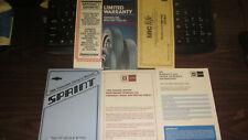 ORIGINAL SURVIVOR 1986 CHEVROLET SPRINT OWNERS MANUAL #52354977 COMPLETE