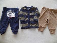 baby boys 3 PIECE LOT mom's rockstar jacket COTTON PANTS carter's 0-3 MONTHS
